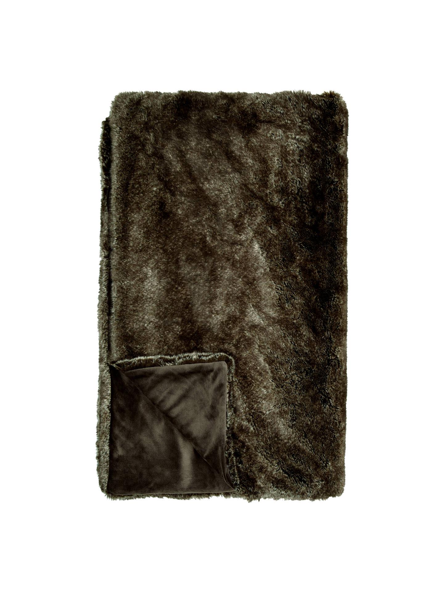 john lewis faux fur throw dark brown at john lewis partners. Black Bedroom Furniture Sets. Home Design Ideas