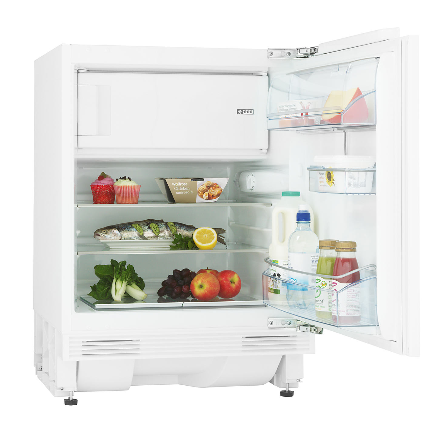 Side by side integrated fridge freezer - Buy John Lewis Jlbiucfr06 Integrated Undercounter Fridge With Freezer Compartment A Energy Rating 60cm