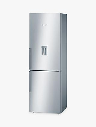 Bosch KGD36VI30G Fridge Freezer, A++ Energy Rating, 60cm Wide, Stainless Steel