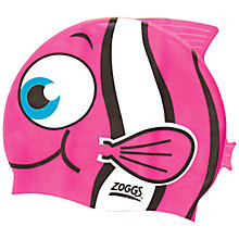 Buy Zoggs Easy Fit Junior Goldfish Character Cap, Pink Online at johnlewis.com