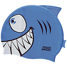 Buy Zoggs Easy Fit Junior Jaws Character Cap, Blue Online at johnlewis.com