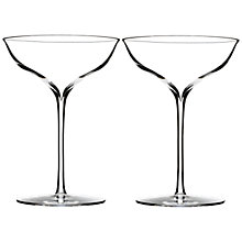 Buy Waterford Elegance Champagne Coupés, Set of 2 Online at johnlewis.com