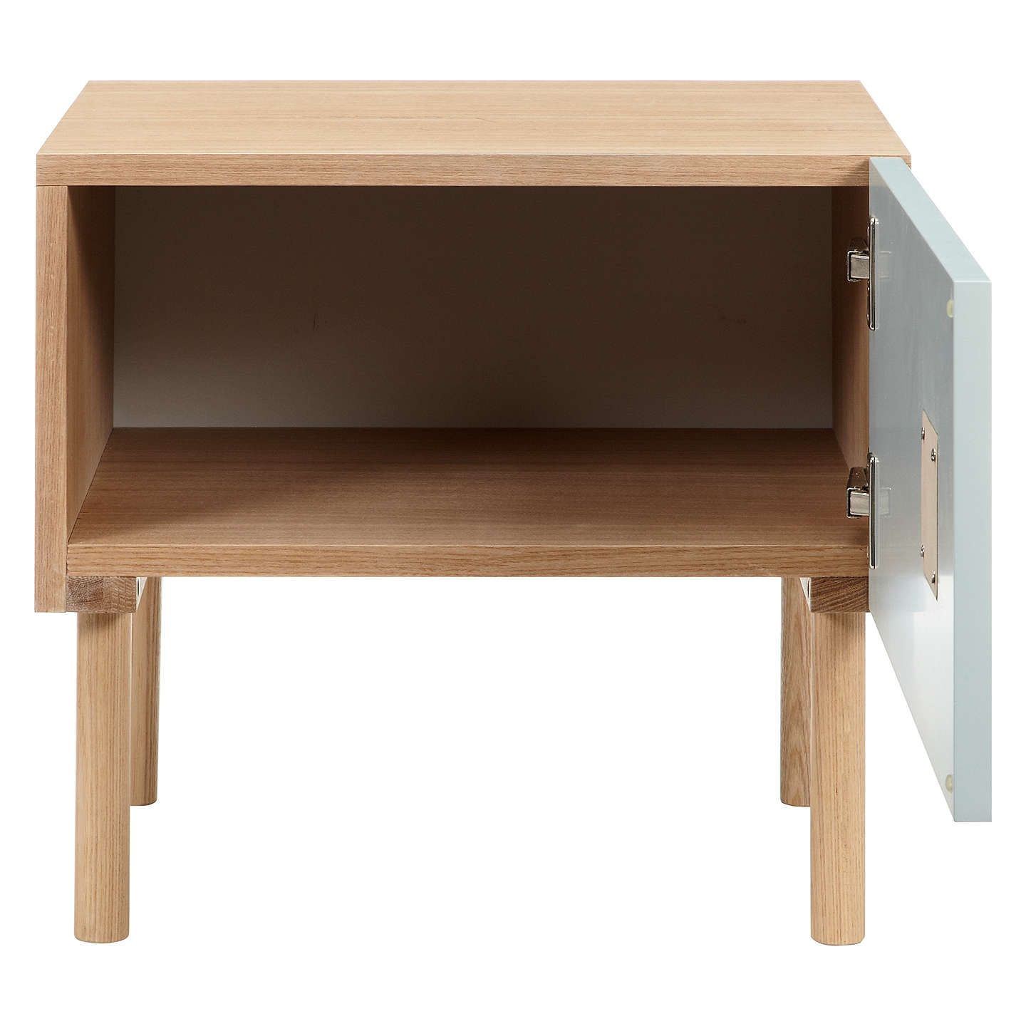 BuyJohn Lewis Spot 1 Door Bedside Table, Blue Online at johnlewis.com