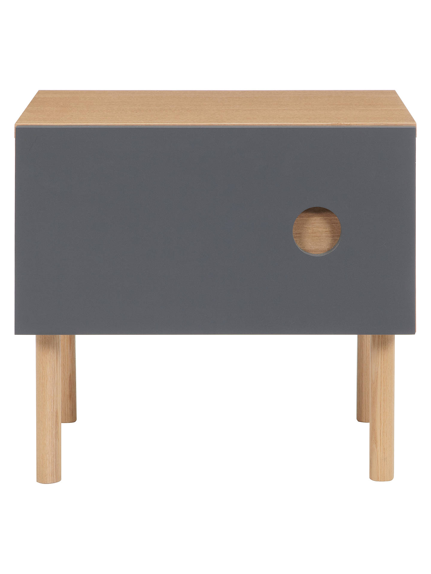 Buy John Lewis Spot Bedside Table, Steel Online at johnlewis.com