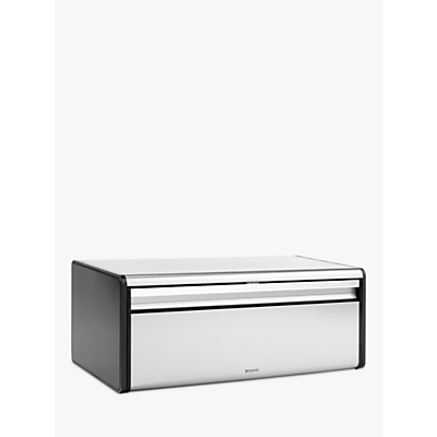 Brabantia Fall Front Bread Bin, Matt Stainless Steel