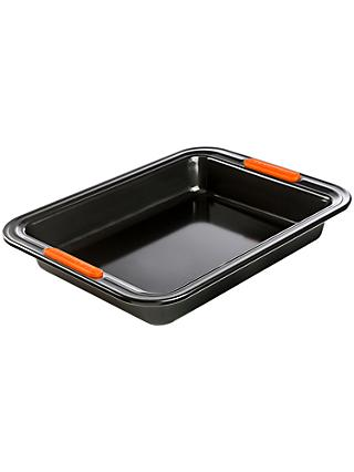 Le Creuset Non-Stick Rectangular Cake Tin, 28cm, Black