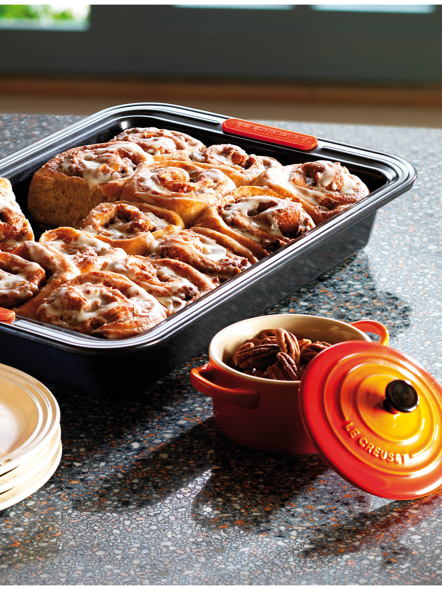 Buy Le Creuset Non-Stick Rectangular Cake Tin, 28cm, Black Online at johnlewis.com