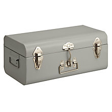 Buy John Lewis Croft Collection Trunk, Medium, Blue/Grey Online at johnlewis.com