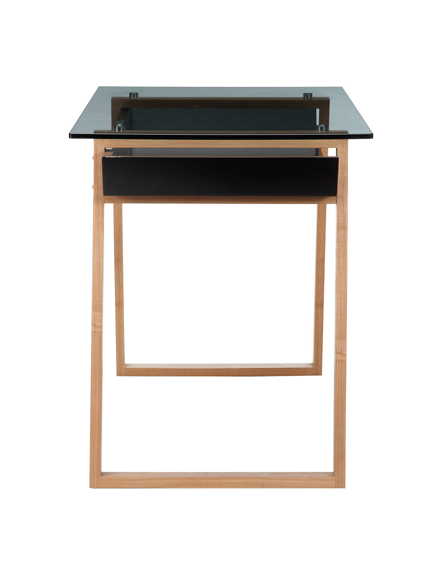 Buy House by John Lewis Airframe Desk, Black Online at johnlewis.com