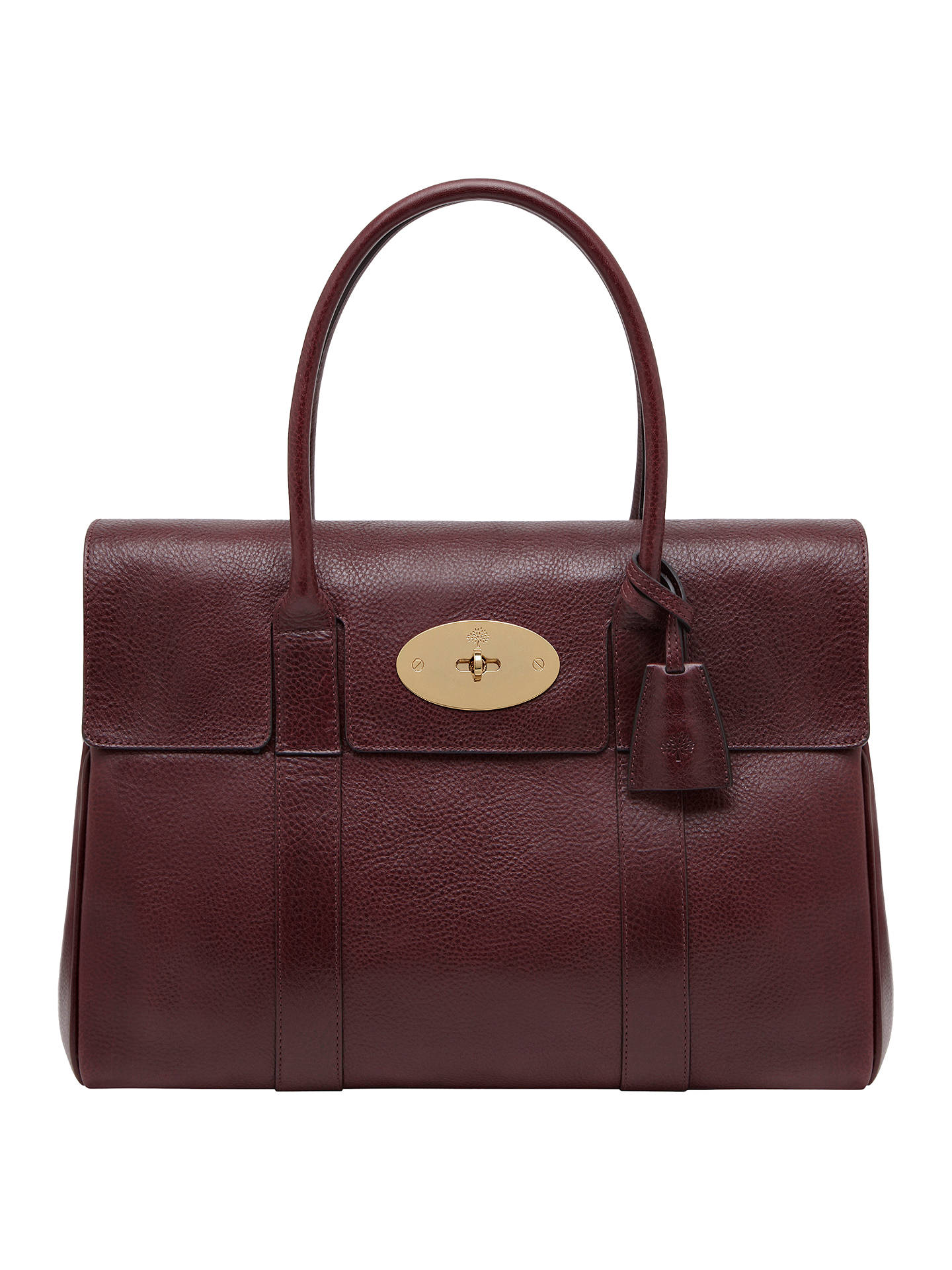 983c216d391 ... where can i buy buymulberry bayswater coloured veg tanned leather grab  bag oxblood online at johnlewis