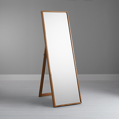 John Lewis Scandi Cheval Oak Mirror, Natural, 160 x 50cm