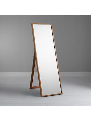 John Lewis & Partners Scandi Cheval Oak Mirror, 104 x 73cm