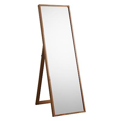 John Lewis Scandi Cheval Oak Mirror, 160 x 50cm, Natural