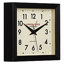 Buy London Clock Company 1922 Square Station Mantel Clock, Black Online at johnlewis.com