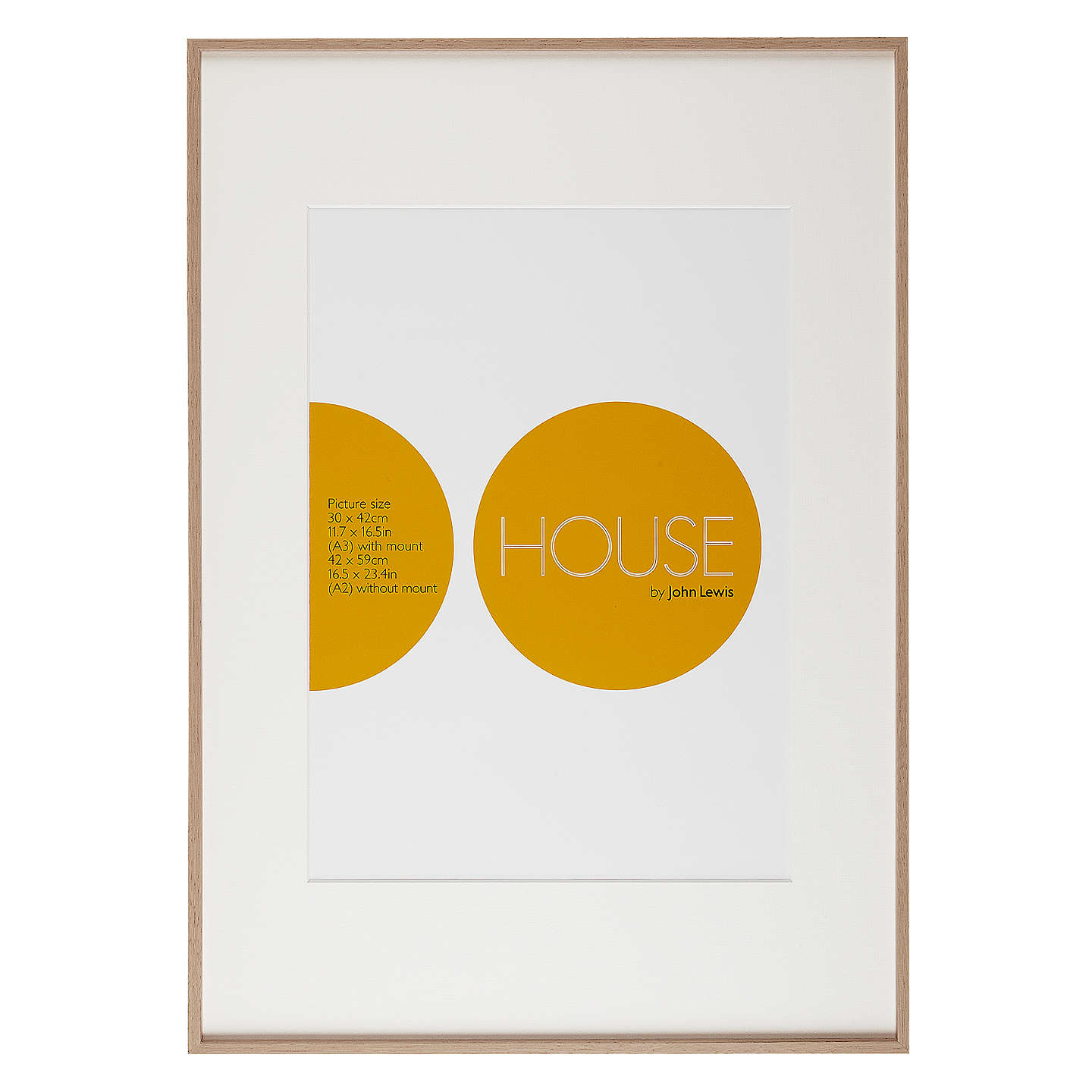 House by john lewis aluminium photo frame a2 with a3 mount at john buyhouse by john lewis aluminium photo frame a2 with a3 mount natural wood effect gumiabroncs Choice Image