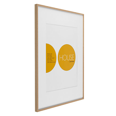 buy house by john lewis aluminium photo frame a2 with a3 mount online at johnlewis