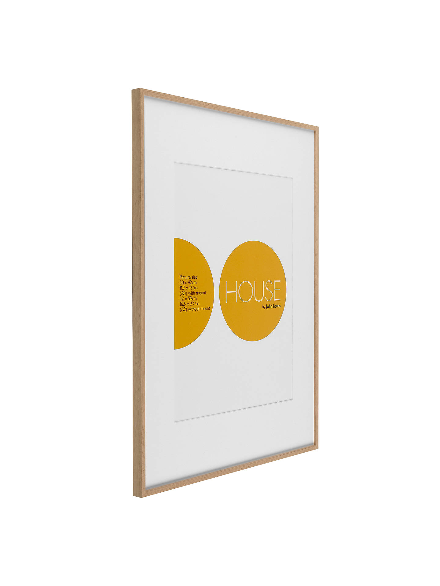 House by John Lewis Aluminium Photo Frame, A2 with A3 Mount at John ...