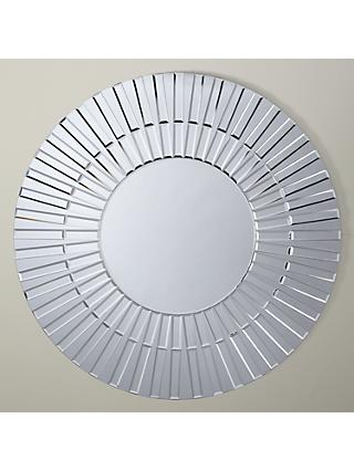 John Lewis & Partners Morello Glass Mirror, Dia.80cm, Clear