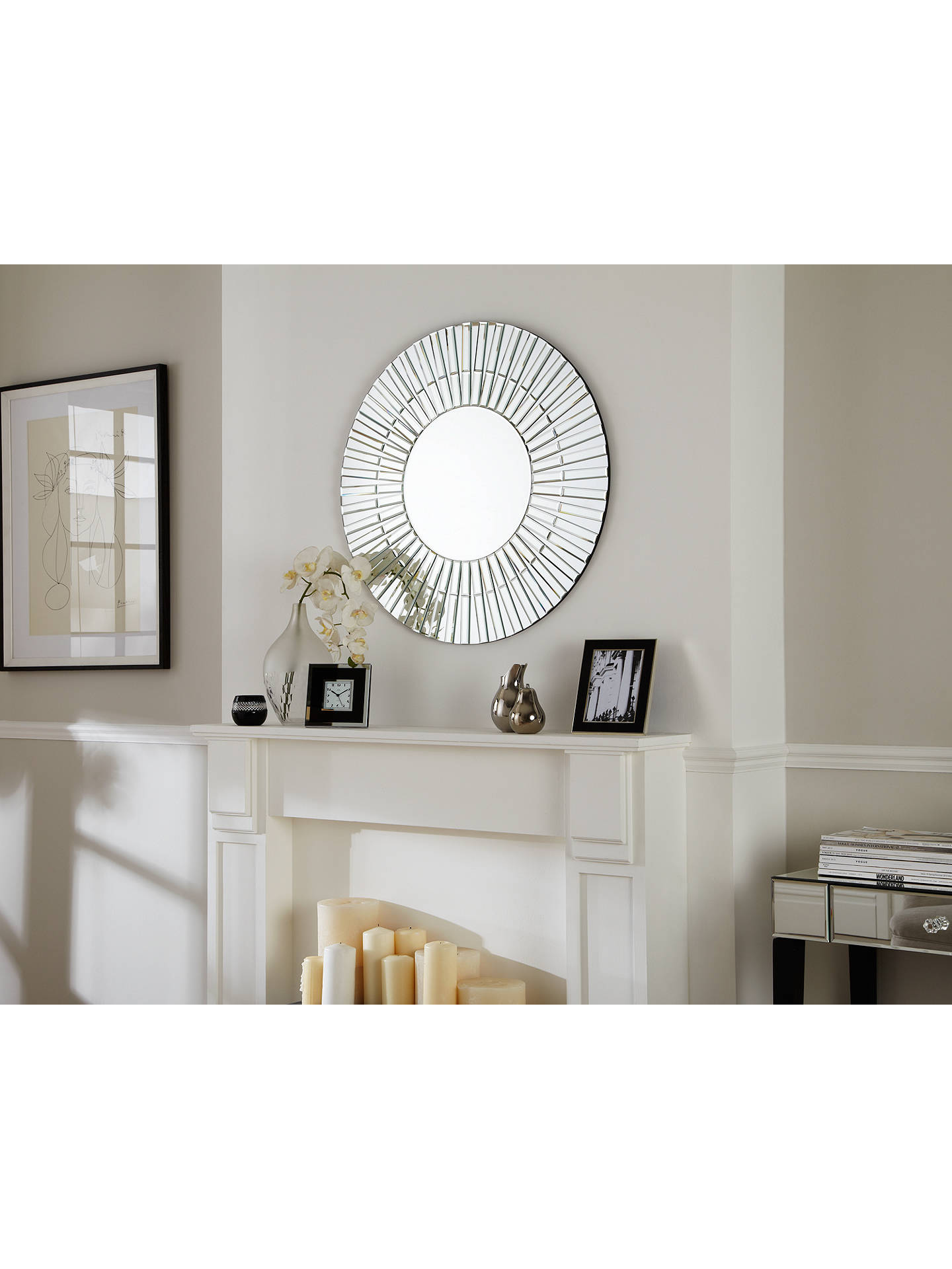 BuyJohn Lewis & Partners Morello Glass Mirror, Dia.80cm, Clear Online at johnlewis.com