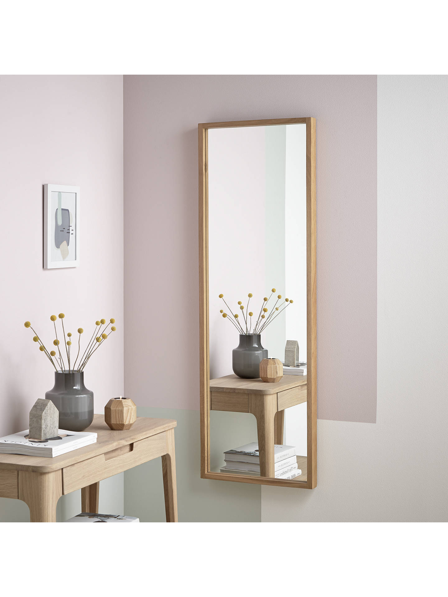 BuyJohn Lewis & Partners Scandi Oak Mirror, 135 x 45cm, Natural Online at johnlewis.com