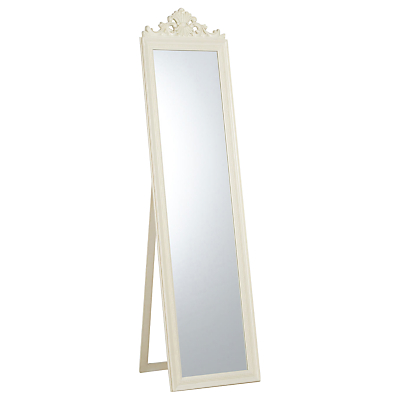 Pimlico Cheval Mirror, Cream, 180 x 46cm