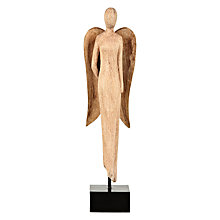Buy John Lewis Wooden Angel Sculpture Online at johnlewis.com