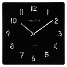 Buy London Clock Company Square Glass Wall Clock Online at johnlewis.com