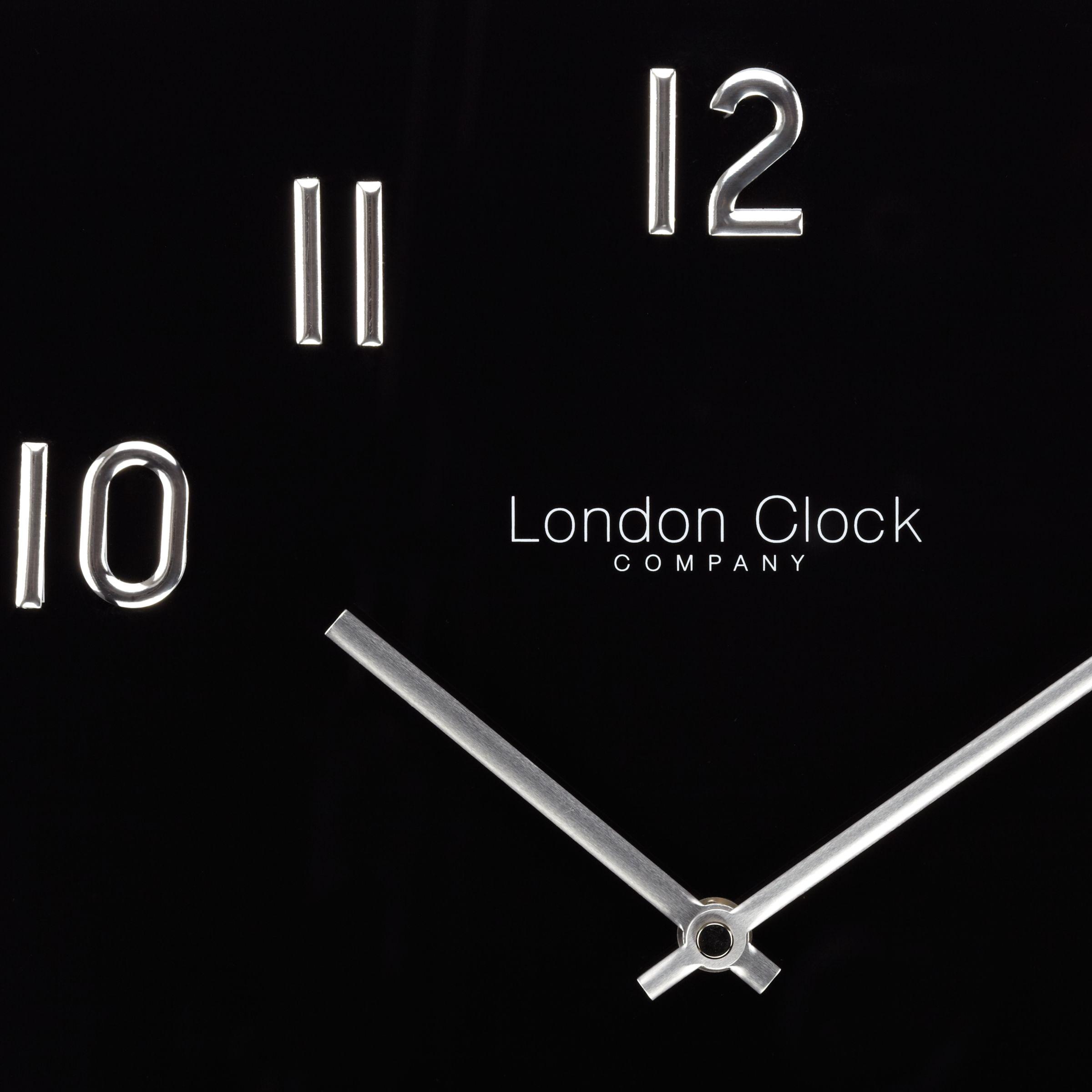 Buy London Clock Company Square Glass Wall Clock John Lewis