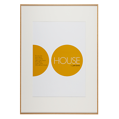 House by John Lewis Aluminium Photo Frame, A1 with A2 Mount