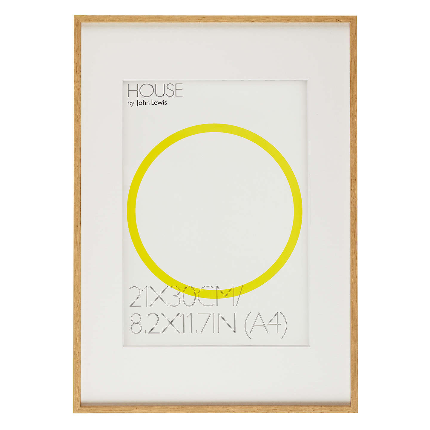 House by John Lewis Aluminium Photo Frame, A3 with A4 Mount at John ...