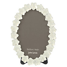 "Buy John Lewis Petals Oval Photo Frame, Ivory, 4 x 6"" (10 x 15cm) Online at johnlewis.com"