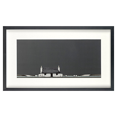 Buy Croft Collection, Ron Lawson - Tiree Cottage Framed Print, 30 x 51.7cm Online at johnlewis.com