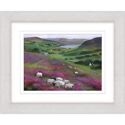 Debbie Neill – Heather Sheep Framed Print, 47 x 57cm