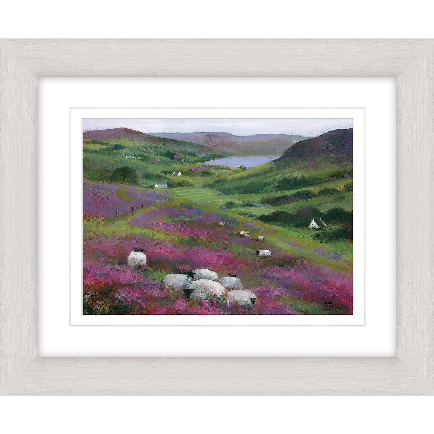 BuyDebbie Neill - Heather Sheep Framed Print, 47 x 57cm Online at johnlewis.com