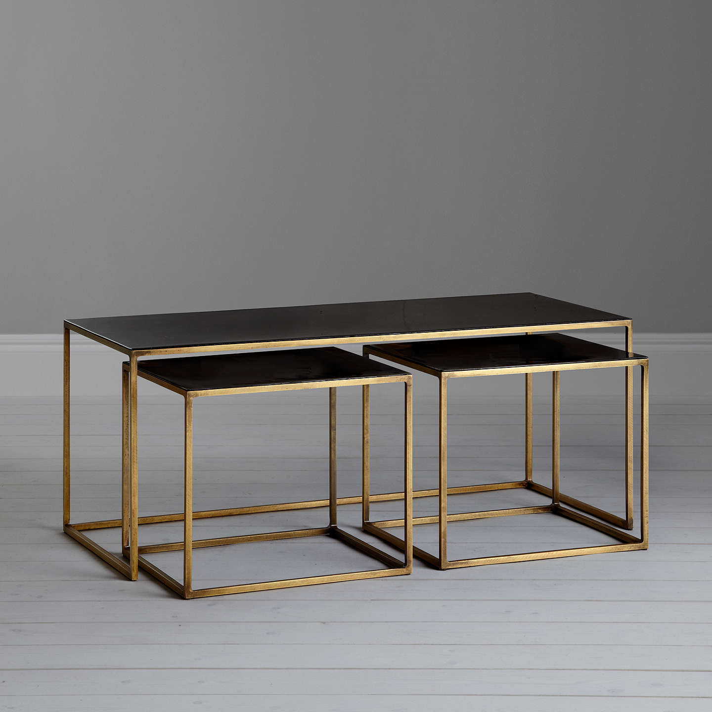 Content By Terence Conran Coffee Black Enamel Table And 2