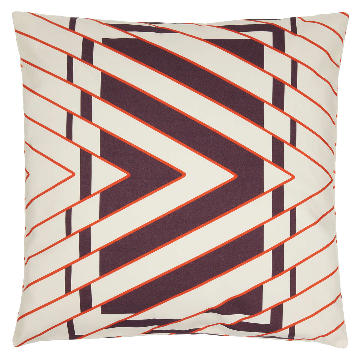 BuyLucienne Day for John Lewis Panama Cushion, Damson Online at johnlewis.com