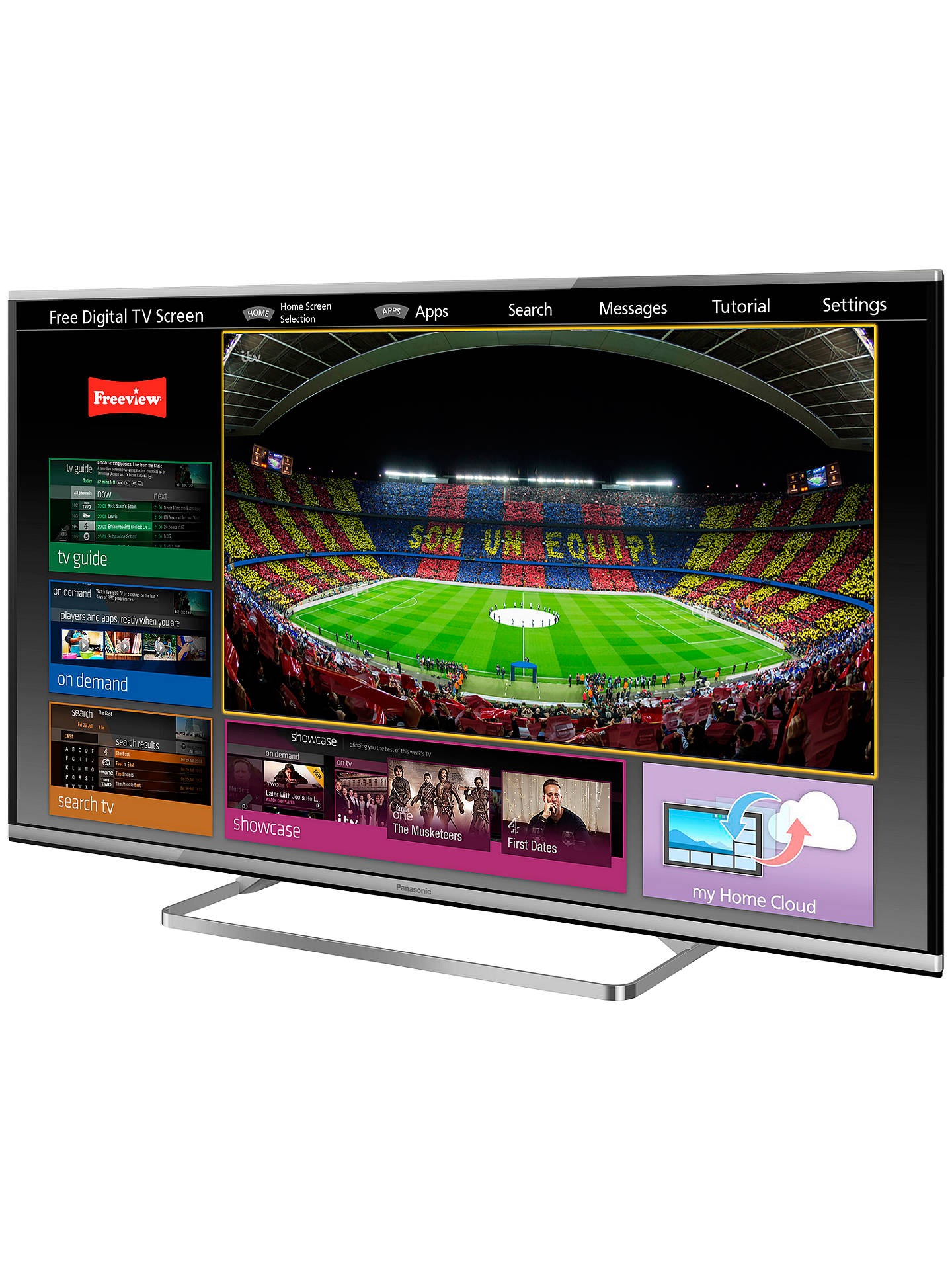 "Buy Panasonic Viera TX-47AS650B LED HD 1080p 3D Smart TV, 47"", Freeview HD with freetime Online at johnlewis.com"