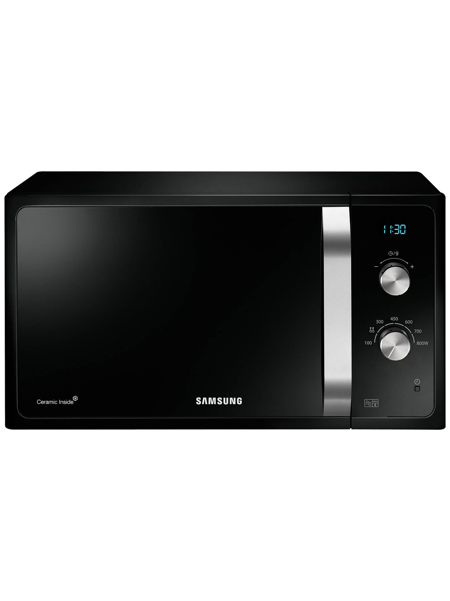 Samsung Ms23f301eak Solo Microwave Black At John Lewis