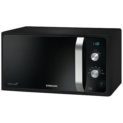 Buy Samsung Ms23f301eak Solo Microwave Black John Lewis