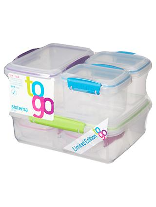 Sistema To Go Food Storage Containers, Set of 6