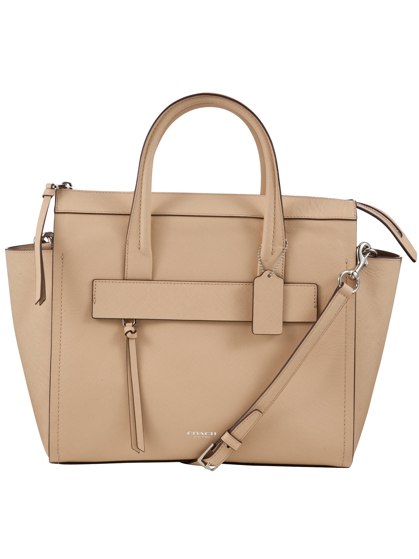 27b4b5ffd7 Coach Bleeker Riley Saffiano Leather Carryall Tote Bag at John Lewis ...