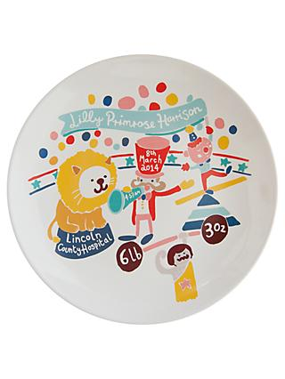 Ethel and Co Personalised Circus Decorative Plate