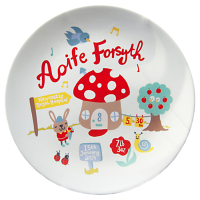 Product photo of Ethel and co personalised toadstool plate