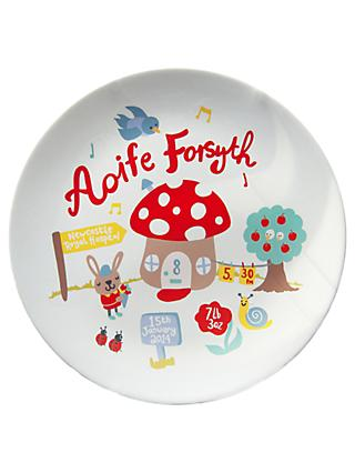 Ethel and Co Personalised Toadstool Plate