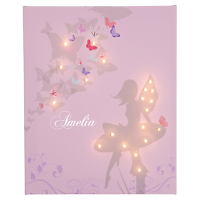 Illuminated Canvas Personalised Fairy LED Canvas, 40 x 60cm
