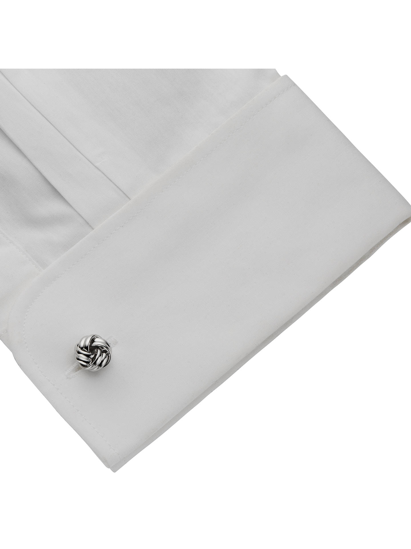 BuyJohn Lewis & Partners Classic Knot Cufflinks, Silver Online at johnlewis.com