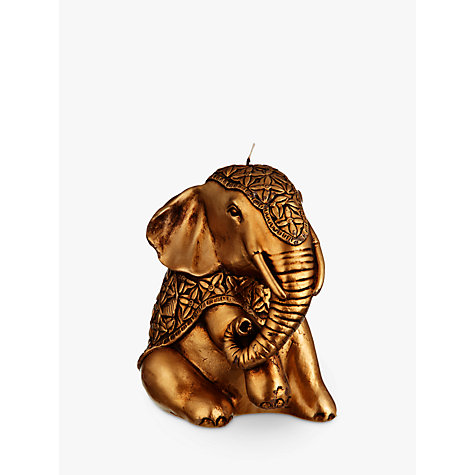 Buy John Lewis Elephant Candle, Gold Online at johnlewis.com