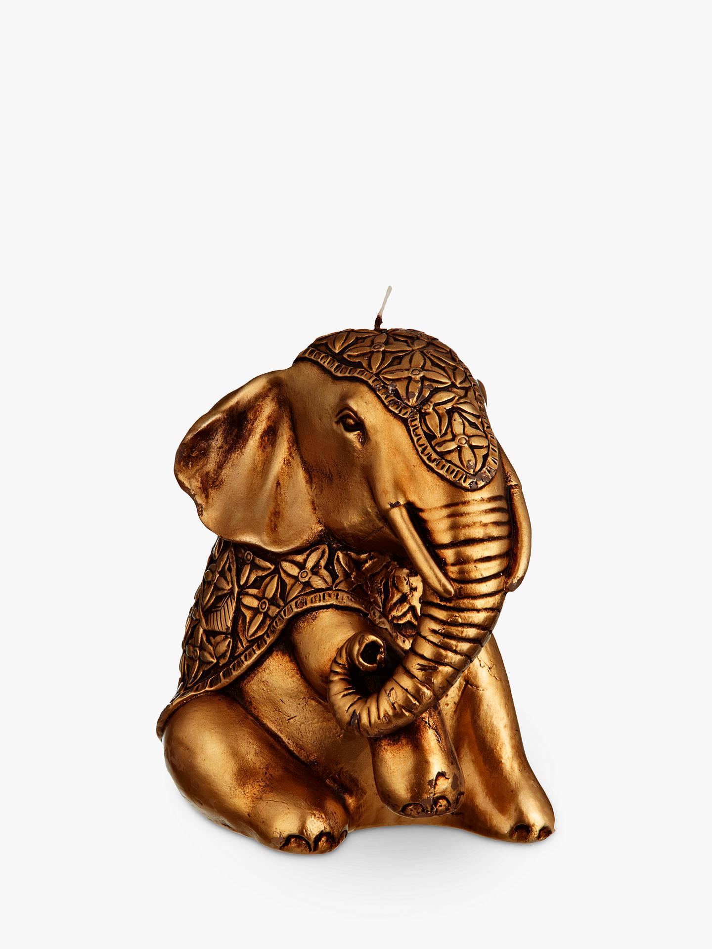 BuyJohn Lewis & Partners Elephant Candle, Gold Online at johnlewis.com