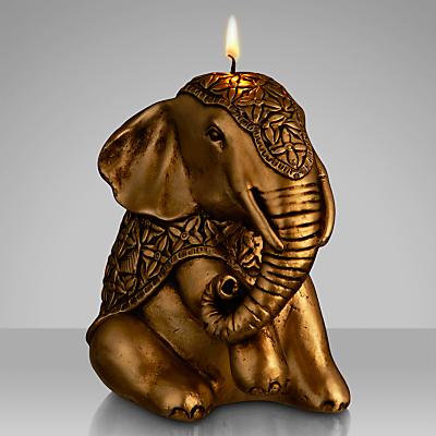 John Lewis Elephant Candle, Gold