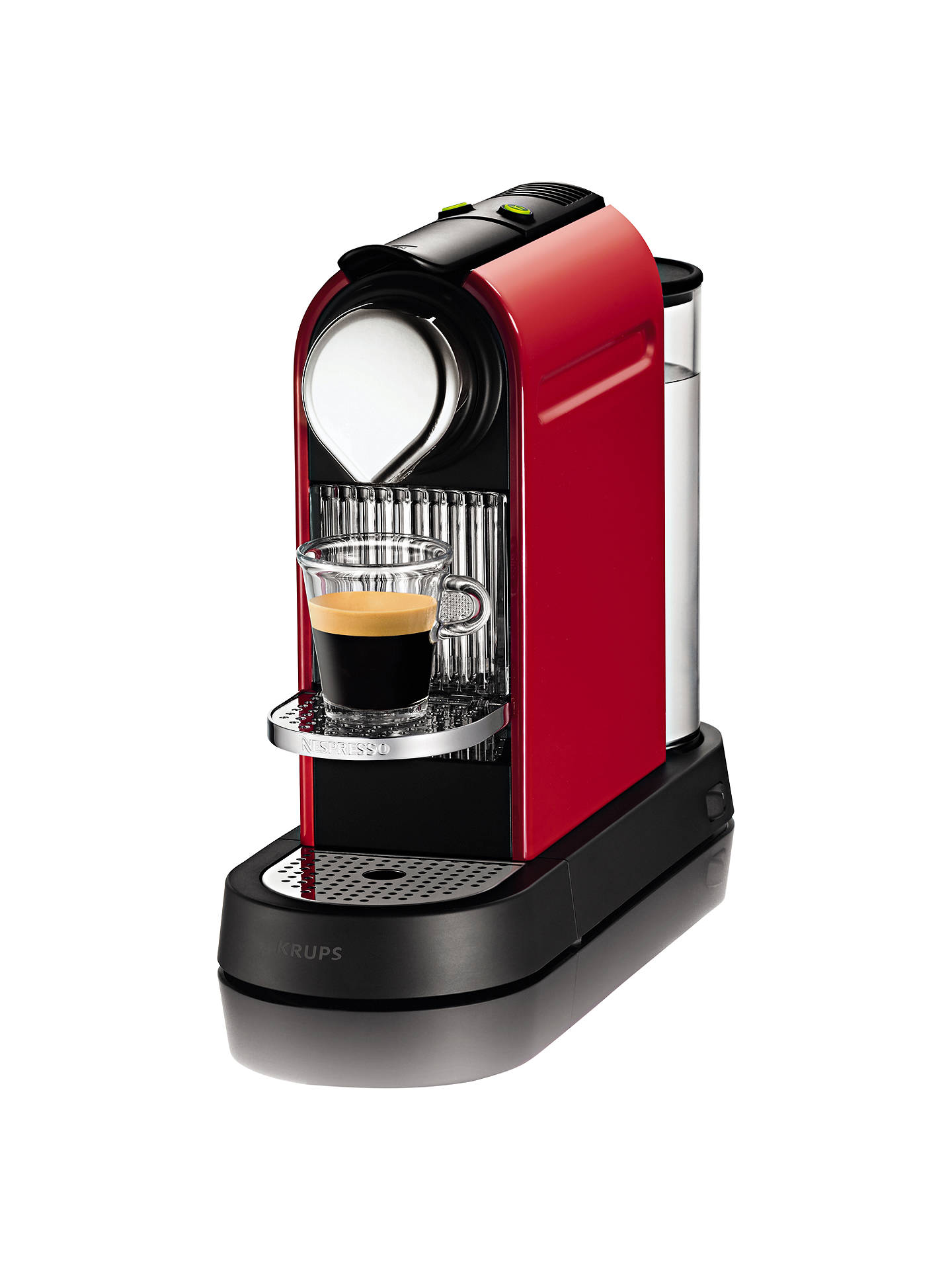Buy Nespresso XN720540 Citiz Coffee Machine by KRUPS, Red Online at johnlewis.com